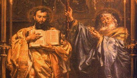 Sv. Cyril a Metoděj dorazili na Velkou Moravu roku 863. Zdroj: wikipedia.cz