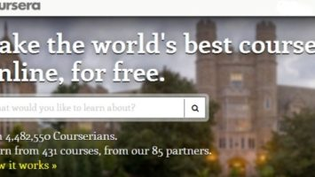 FOTO: Webové stránky Coursera
