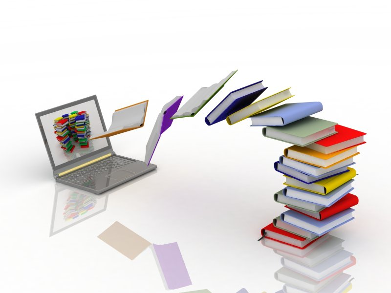 books fly into your laptop из 3ddock, Роялти-фри стоковое фото #23624870 на Fotolia.ru