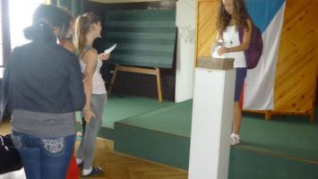 Foto: Volby na Gymnáziu Žatec