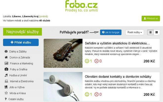 FOTO: Fobo.cz - Prodej to, co umíš