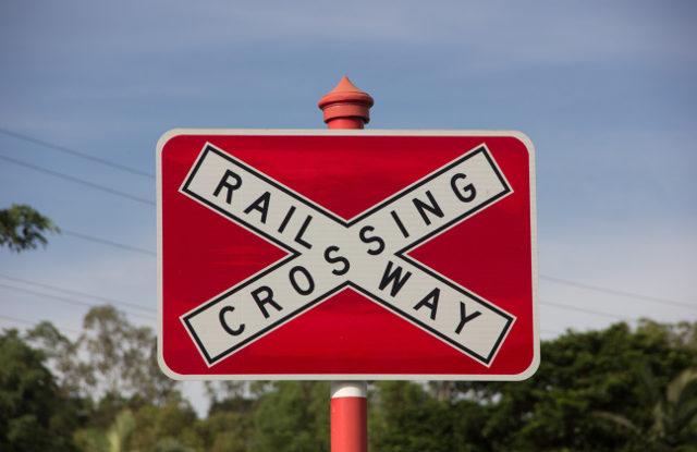 FOTO: železniční přejezd