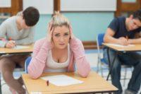 FOTO: Přemýšlení u testu
