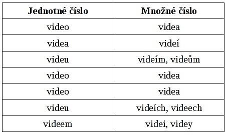FOTO: Jak se skloňuje video