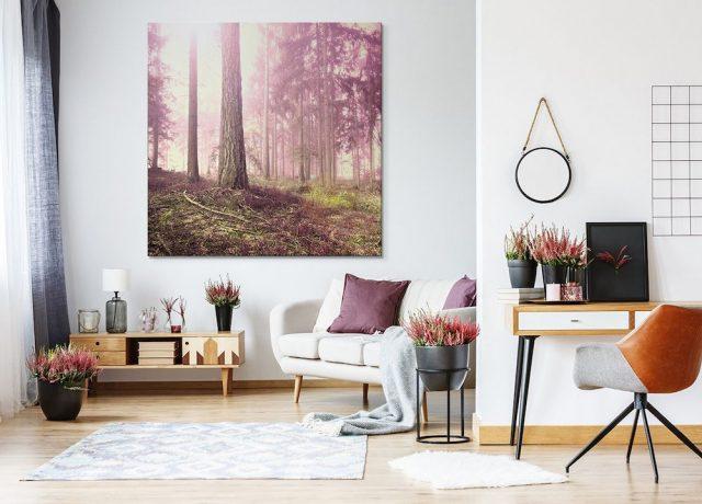 Obrazy lesa do obývacího pokoje