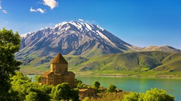 Východní Turecko jezero Van